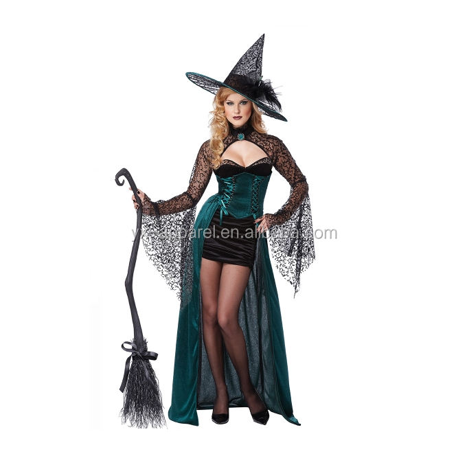 2017 new design festival funny carnival dance dress evil witch costume