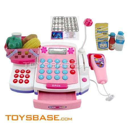 electrical money register , cashier toy