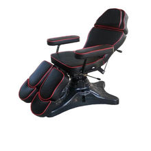 hot sell high-grade tattoo chairs professional Artificial leather black bed tattoo equipment