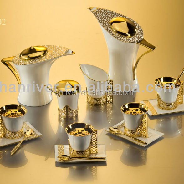 2013 Most luxurious ceramic coffee set with factory price