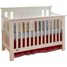 Convertible wood baby crib bed