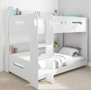 More Popular White Kids Children Bedroom Furniture MDF Wood Bunk Beds Customized