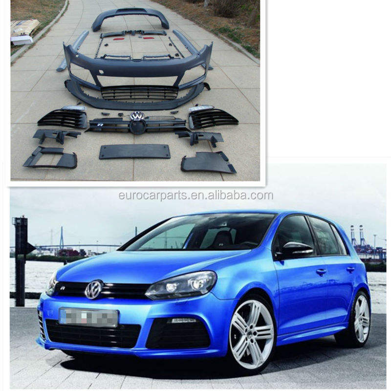 body kits fit for VW Golf 6 changing to R20 style 10~13