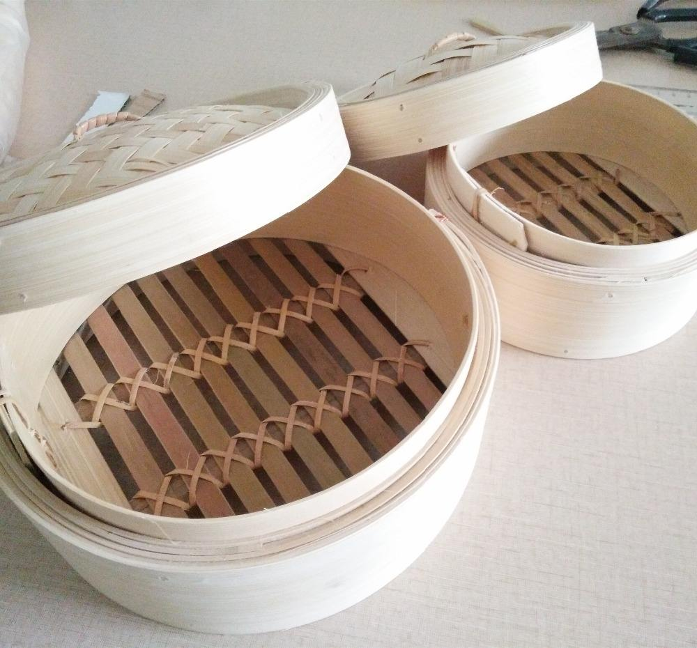 Round 7 8 9 10 Inch Bamboo Food Rice Steamer Basket