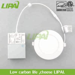 ETL ES listed led pot light 4inch 6W 6inch 12W IC type ultra thin led panel light with Class II for damp location