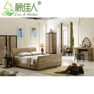 Bambu alami Kayu Antique Hotel Furniture