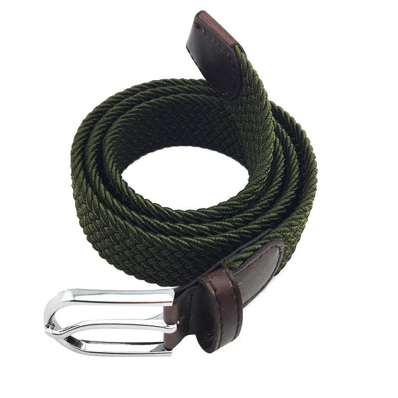 Adjustable Braided Elastic Stretch Belt for Man