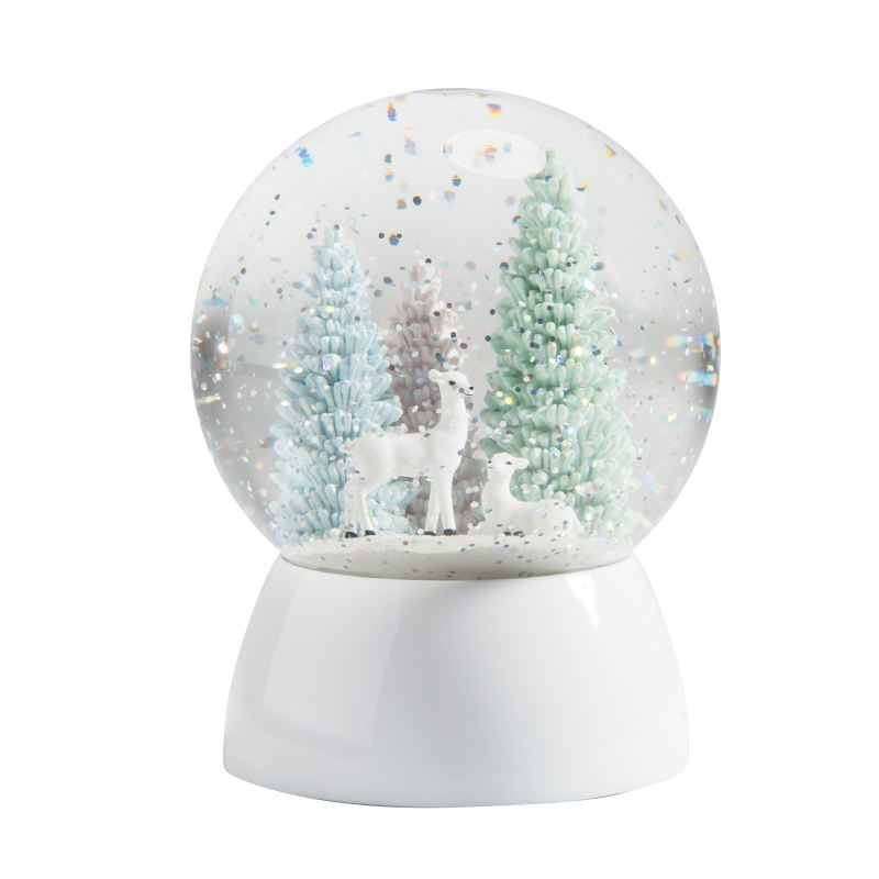 Water globe home decor LED light Deer forest Crafts gifts christmas snow globe