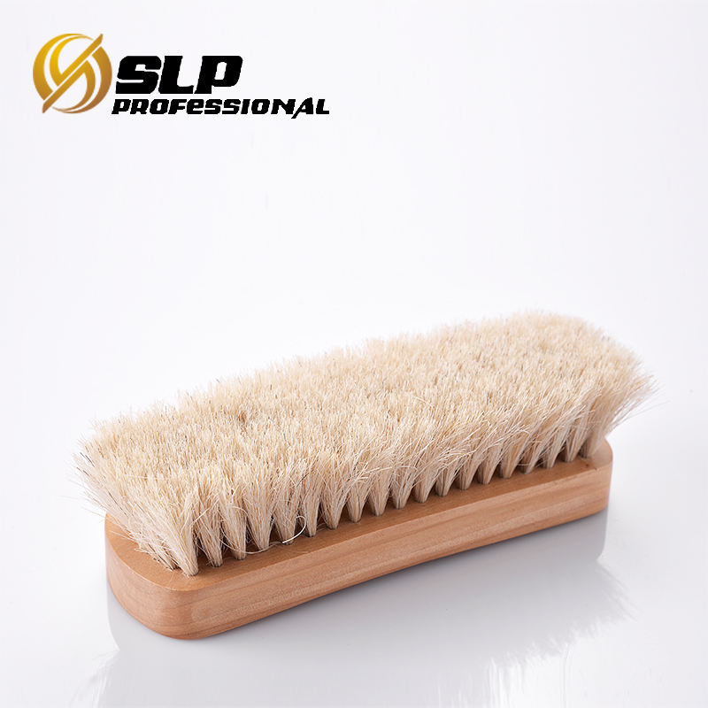WOODEN HORSE HAIR MANE BRISTLE LEATHER SHOES CARE BRUSH POLISHING CLEANING STRIC