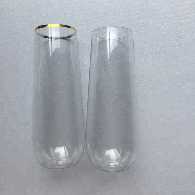 Wholesales All Clear Plastic Champagne Flutes for Wedding Parties