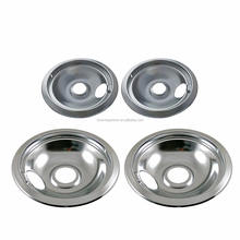 Chrome Drip Pan Set Replacement for Frigidaire Kenmore 316048413 and 316048414: 2