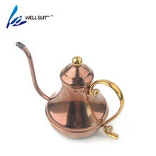 2018 hot popular new design Copper classic vintage coffee milk tea pot