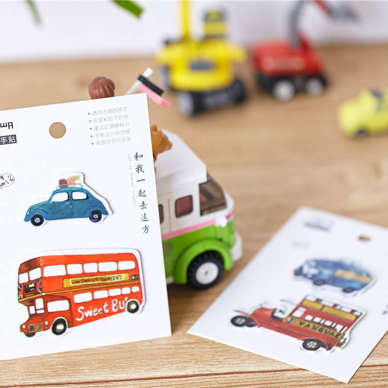 Mignon Voiture Forme Poster Pad Collant Notes Bloc-Notes Collant
