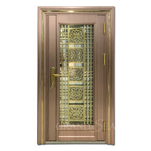 Modern apartment main door mirror glass design residential exterior security stainless steel doors for home