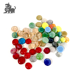 High quality various colors glass gem stone with round shape