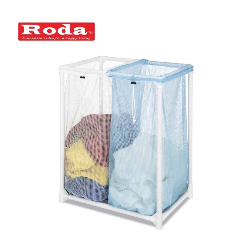 2019 New Design Waterproof Oxford laundry Sorter cart with wheel Laundry Hamper Clothes Basket