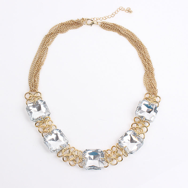 Cheap Crystal Diamond Necklace, Wholesale Costume Jewellery, European Fashion Jewellery