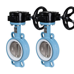 Manual metal seal cast iron wafer 3 inch butterfly valve metal seat butterfly valve