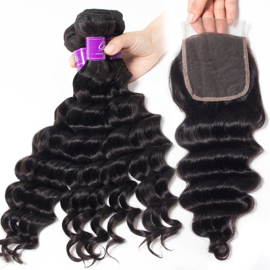 Factory Directly Sale Loose Deep Wave Curly Peruvian Virgin Hair In Mozambique Mink Cuticle Aligned Virgin Hair Bundles