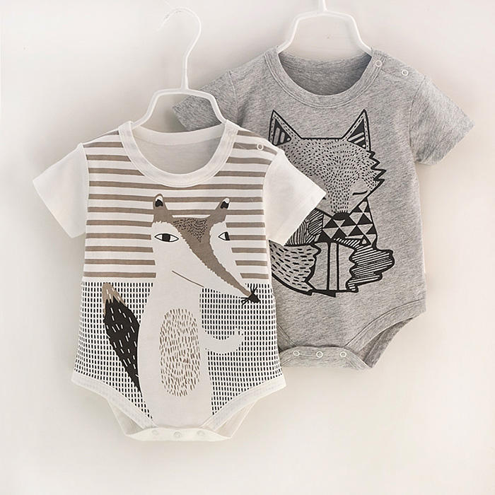 OEM available Unisex Baby Rompers Summer 100% Cotton Newborn baby Bodysuit Short Sleeve Baby Clothes