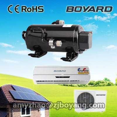 Original 100% Solar System 48V DC Solar Air Conditioner 9000BTU/1Hp Wall Split Home use Hybrid DC Inverter Solar aircon