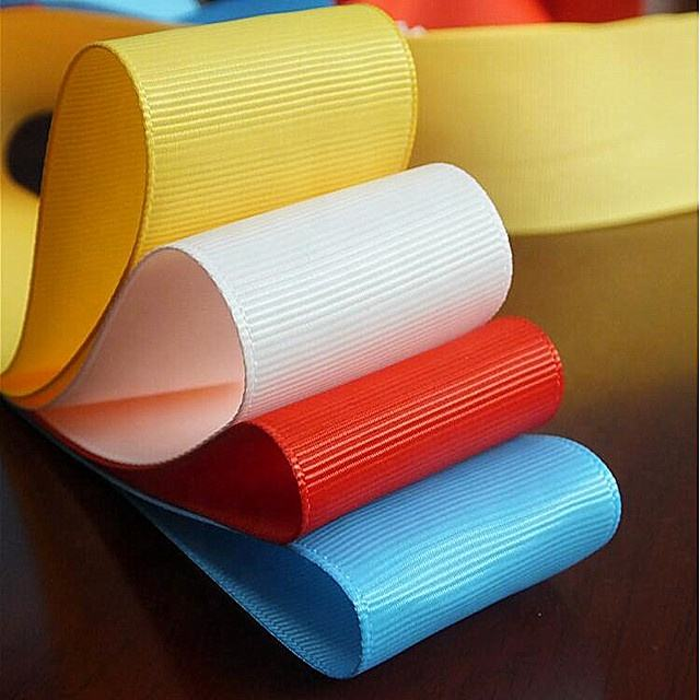 Custom Width Black and color grosgrain ribbon Polyester ribbon