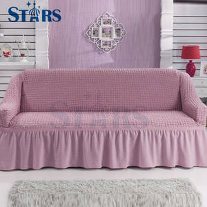 GS-SC-14 Hot sale stretch fitted linen quilted sofa cover
