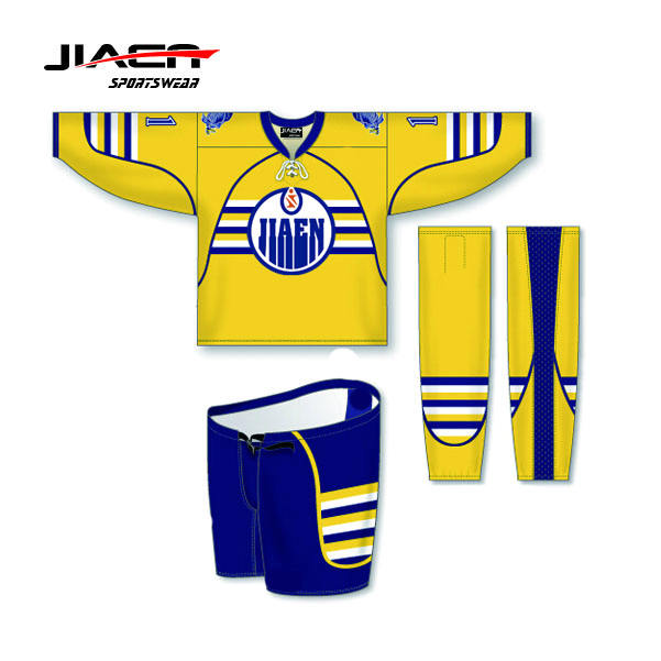 cheap practice custom high quality beer league ice hockey jerseys 100% Polyester Sublimation reversible goalie hockey jerseys