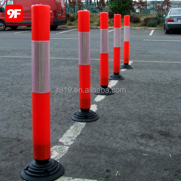 Rubber base flexible post rubber bollard