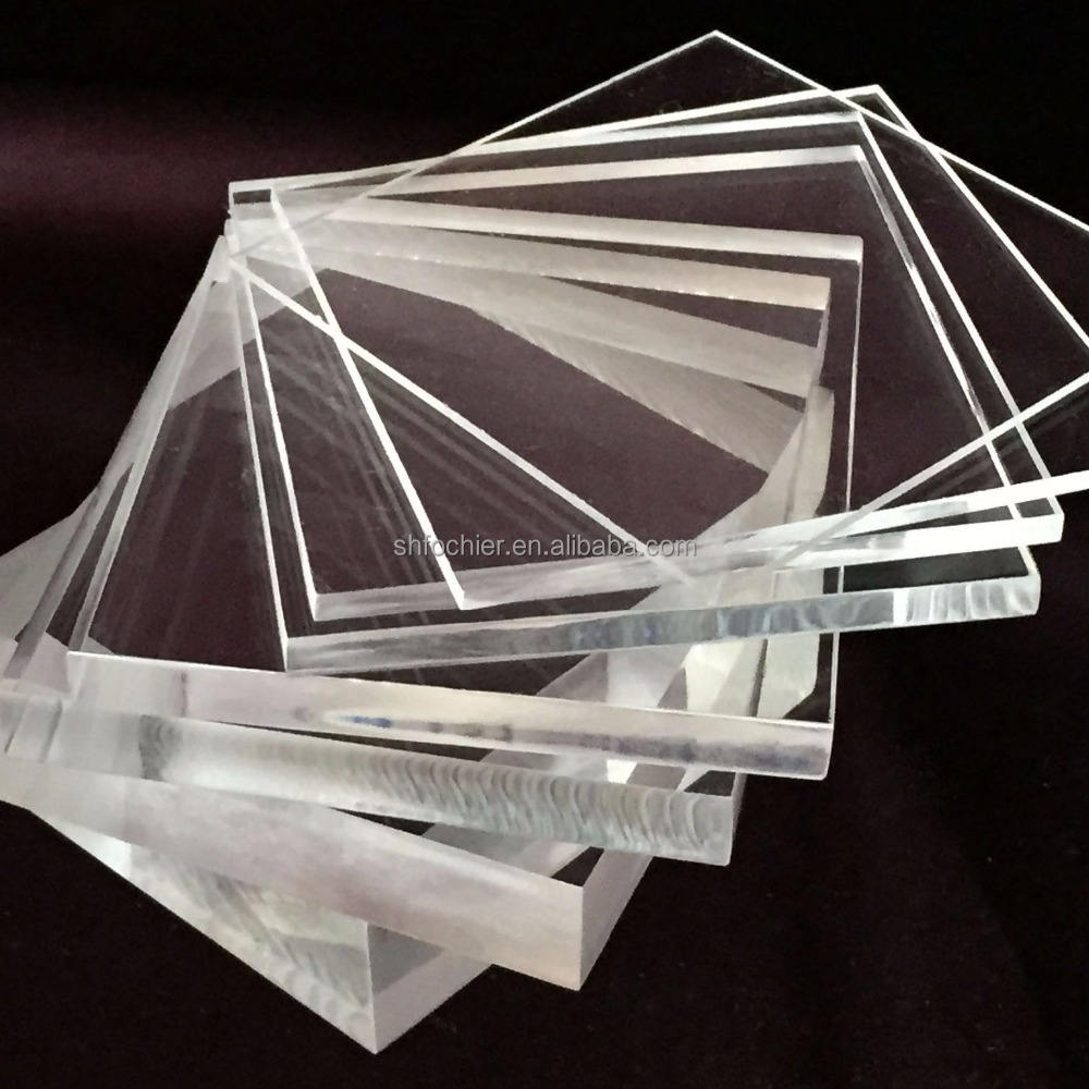 Custom 4x8 cast clear plexiglass acrylic sheets with customized size for light application