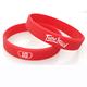 Customized silicone wristbands with personal logo 1/2inch Screen Printed Silicone