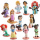 11pcs/set Anime Mini Princess cake topper SnowWhite Mermaid Action Figure
