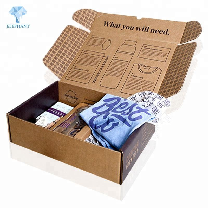 Custom best price portable standard packing clothes cardboard carton box