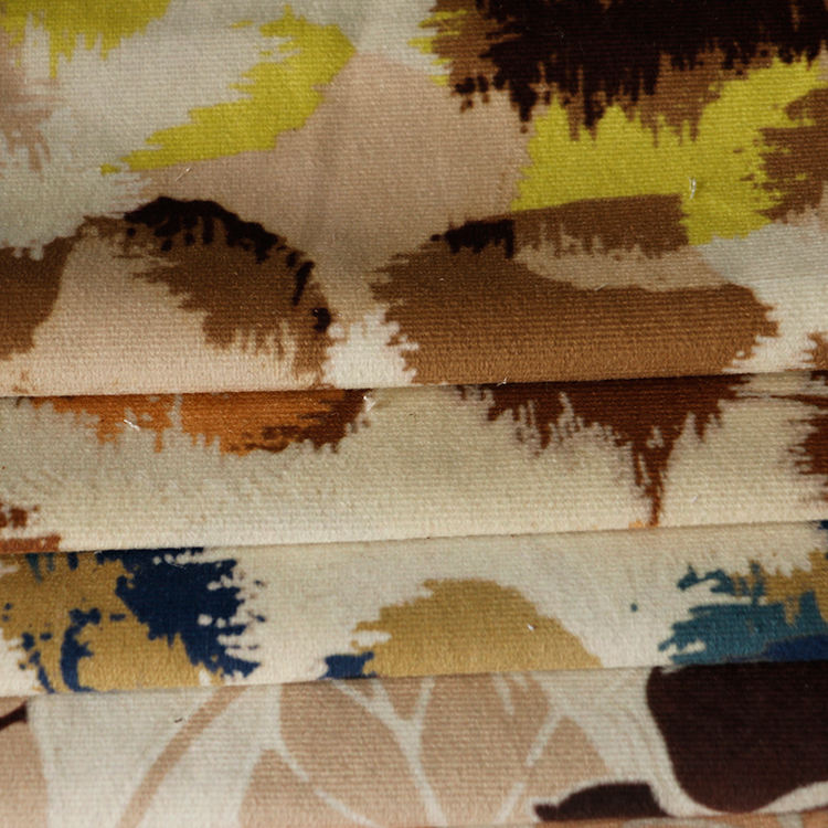 New Trendy Factory Low Price printed suede fabric for sofa