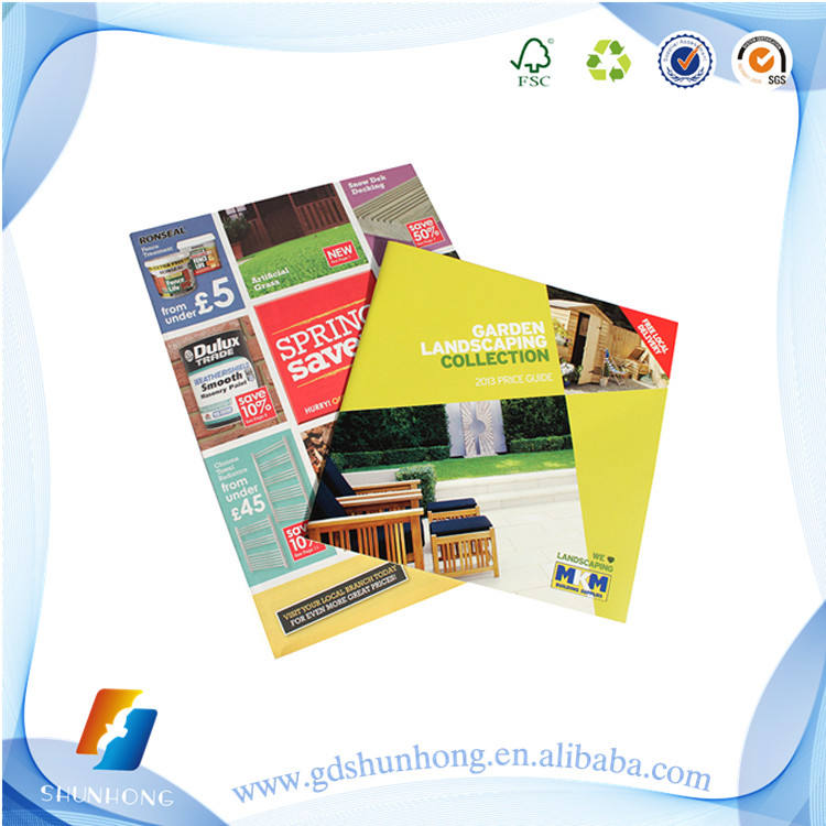 New product customized design advertising catalogue/booklet printed with great price