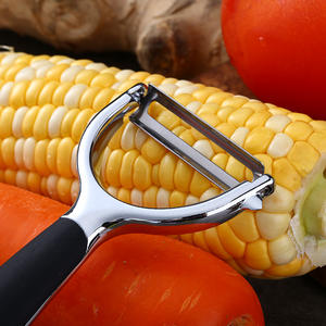 Stainless Steel Blade Potato Y Zinc Alloy Peeler Vegetable Peeler for Fruit with Non-slip Handle