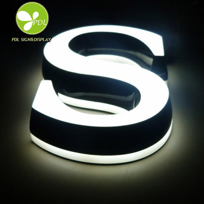High Bright Double Side Acrylic Led Light Letter Sign