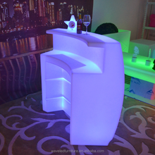 Modern design light up wine acrylic pub led DJ bar portable bar counter