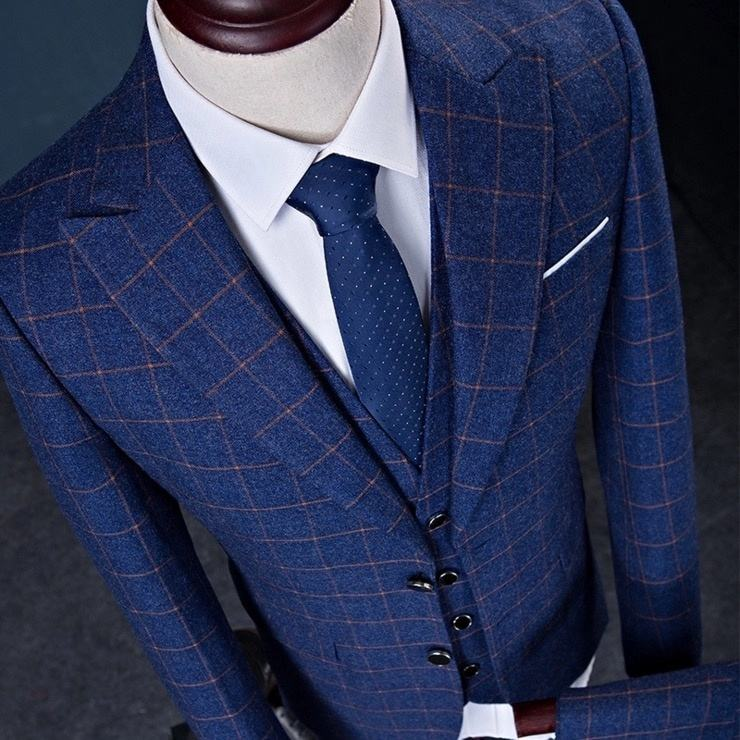 China Supplier MTM Bespoke Hot Sale Men Slim Fit Wedding Suits