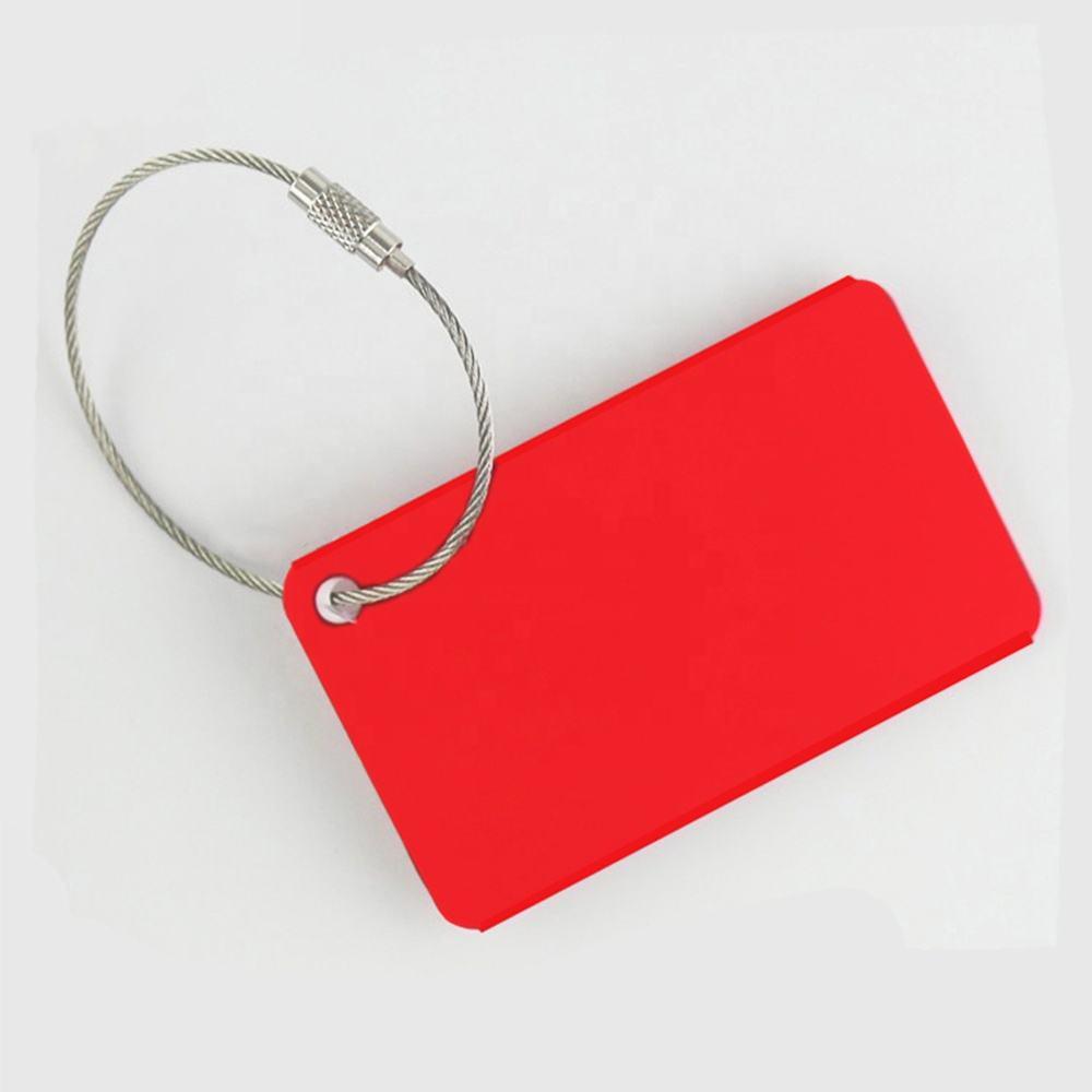 Free-2 LGBT Dog Gay-Pride Rainbow Luggage Tag 3D Print Leather Travel Bag ID Card