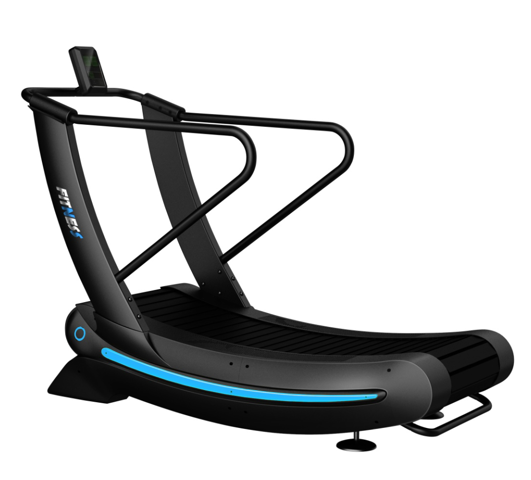 commercial self- generated curve treadmill/ gym running equipment