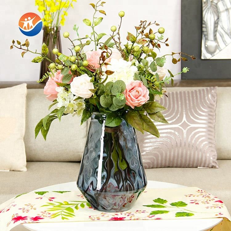 factory supplier glass flower vase for decoration