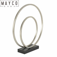 Mayco Modern Interior Two Silver Rings Metal Art Home Hall Decoration Stands Sculpture Supplier