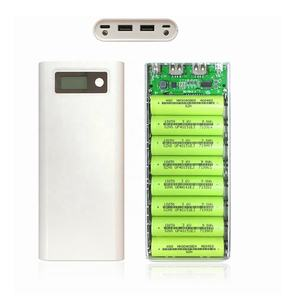 8x18650 Universal 5V Dual USB 18650 Power Bank Battery Box Mobile Phone Charger DIY Shell Case For Smart phone