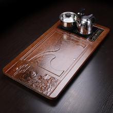 China wholesale home natural wood table top Kung Fu tea plate bamboo tea serving tray