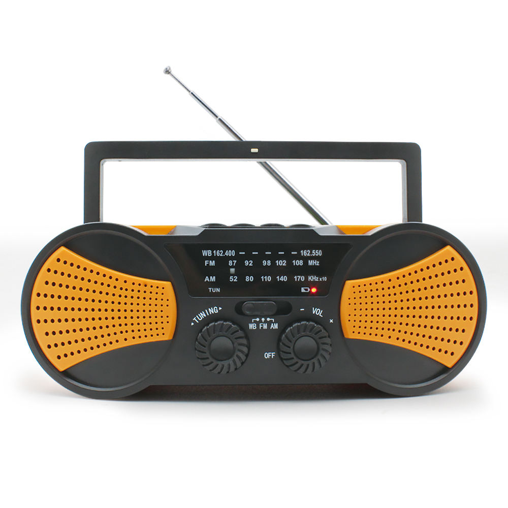 New Products 2020 SOS Alarm AM/FM Solar Panel Hand Crank Radio
