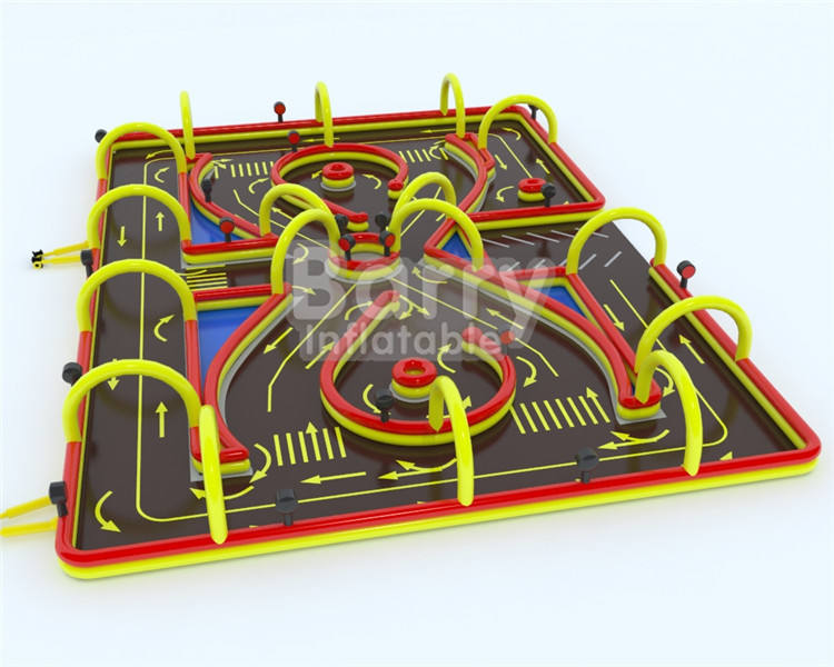 Hor sale china cheap price car race track inflatable factory