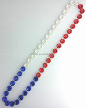 38 inches 18mm Tire beads Car Racing necklaces Sport beads Pearl Opaque Sections Metallic Sport Racing Car Tire necklaces beads