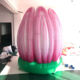 giant inflatable lotus flower party stage wedding decoration can be opened automatically with led