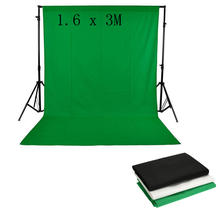 High Quality Background 1.6 x 3M / 5 x 10FT 100% Non-woven Backdrop Photography Studio Background Black White Green Screen